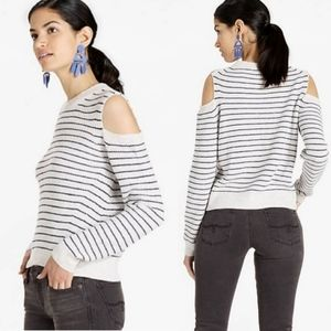 Lucky Brand Striped Cold Shoulder Sweater